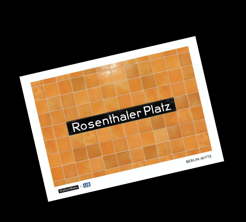 Eine Postkarte der Station Rosenthaler Platz